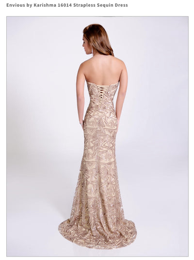 Strapless Sequin Nude Dress