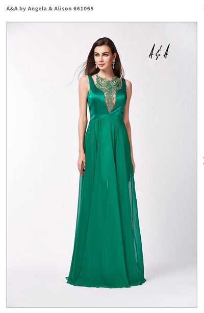 Beautiful Green Flag Gown