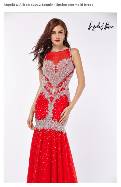 Sequin Illusion Mermaid Dress