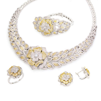 Two-Tone Set of Jewels With CZ