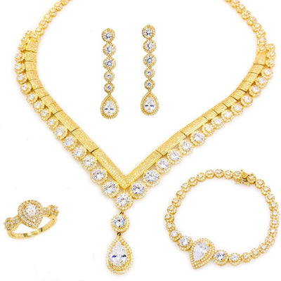 45541 Gold Plated CZ Set