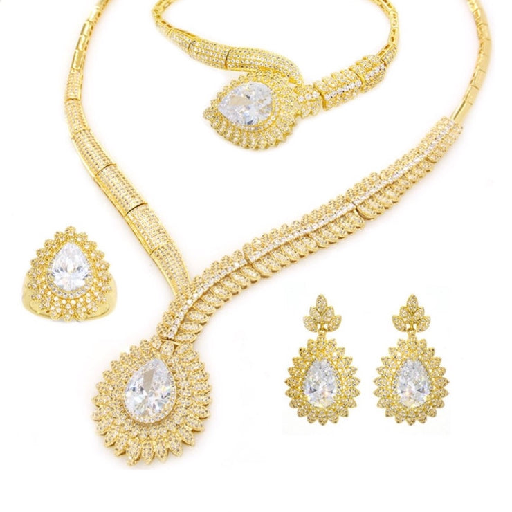 Gold Plated Set with Cubic Zirconia