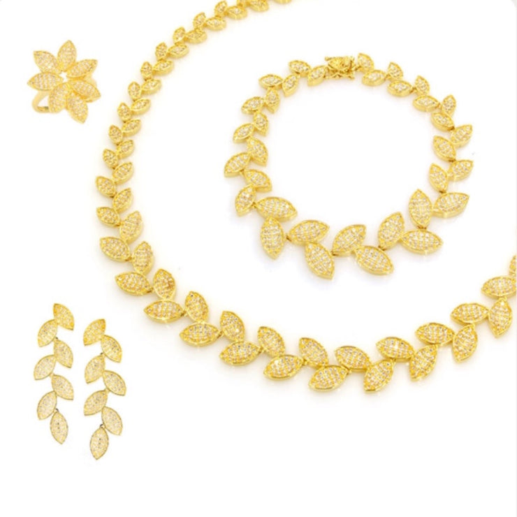 Shinny Golden Leaf 4-Pcs Set