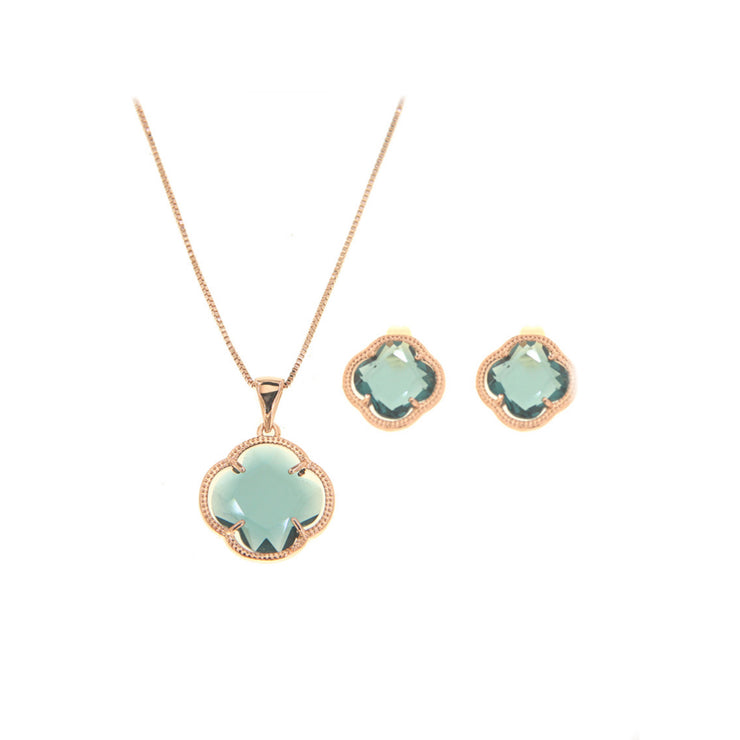 Bonita Jewels Rose Gold Plated CZ Set