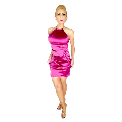 Bonita's Closet Sleeveless Satin Dress