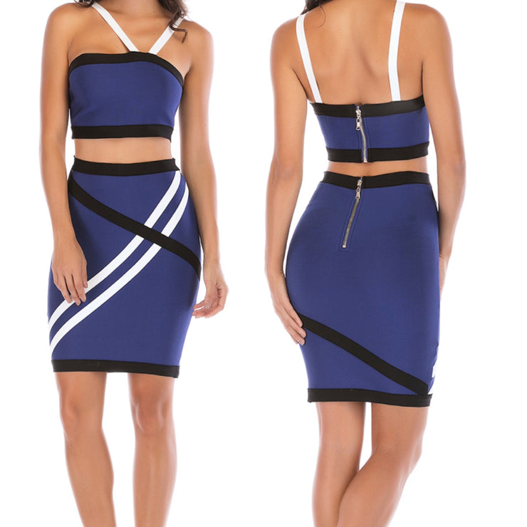 Bonita Bandage Two Piece Set Mini Dress
