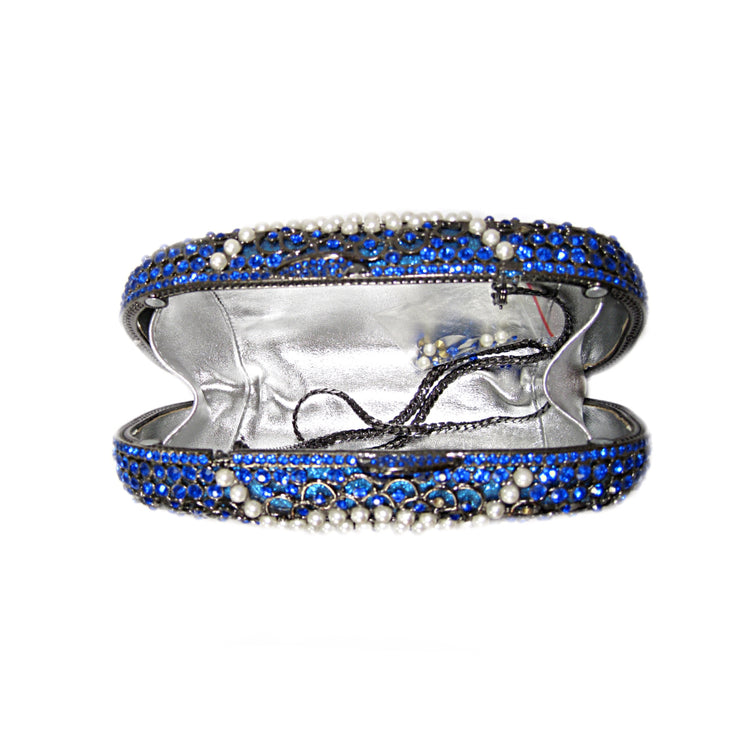 Bonita Jewels Electric Blue Crystal Clutch