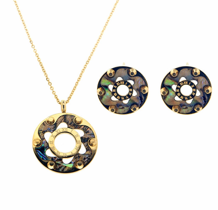 Bonita Jewels Gold Plated Pendant Set