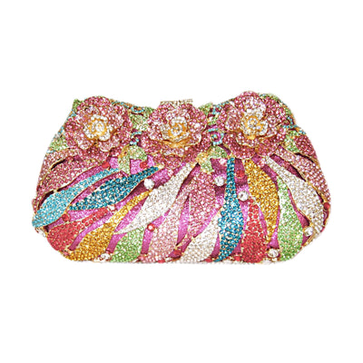 Bonita Jewels Crystal Flower Clutch