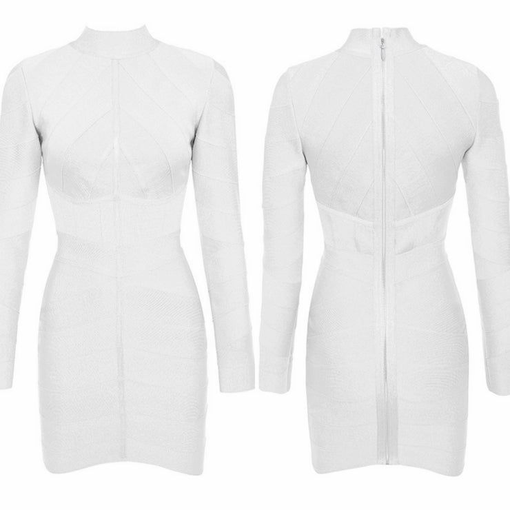 Bonita Bandage Mini Long Sleeve Dress
