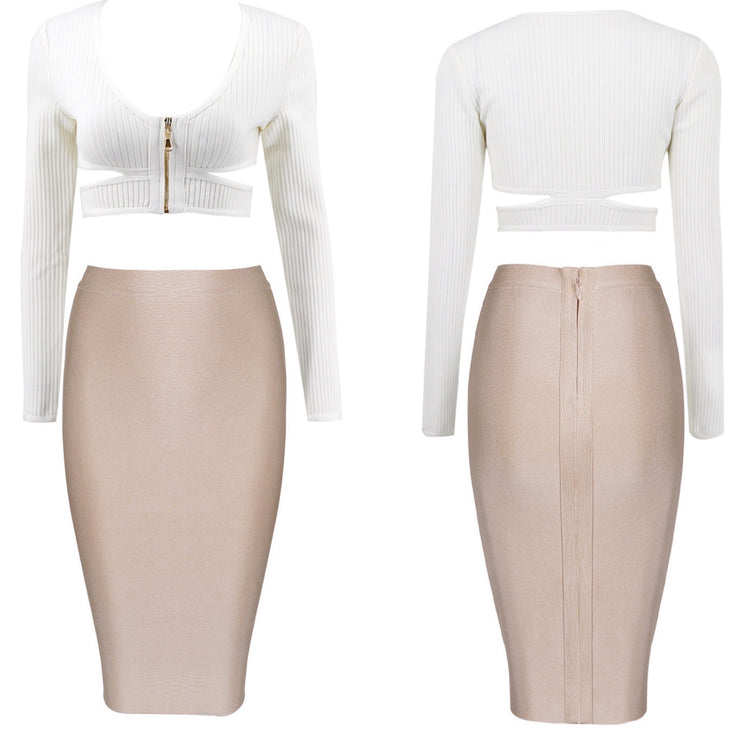 Bonita Bandage Two Piece Skirt Set