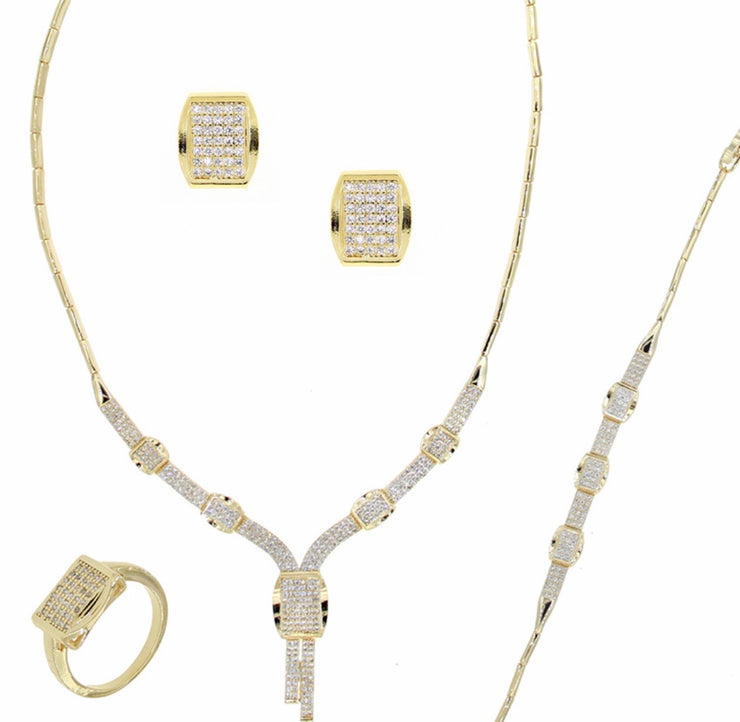Bonita Jewels Gold Plated CZ 4-PCS Set