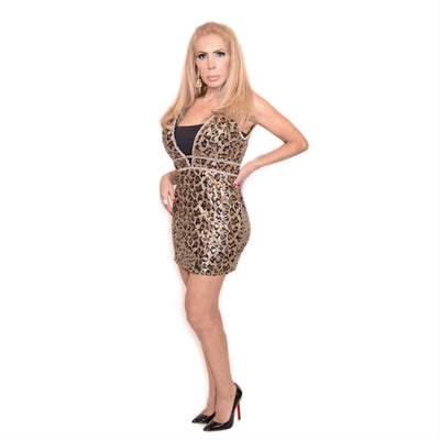 Bonita Cocktail Leopard Dress