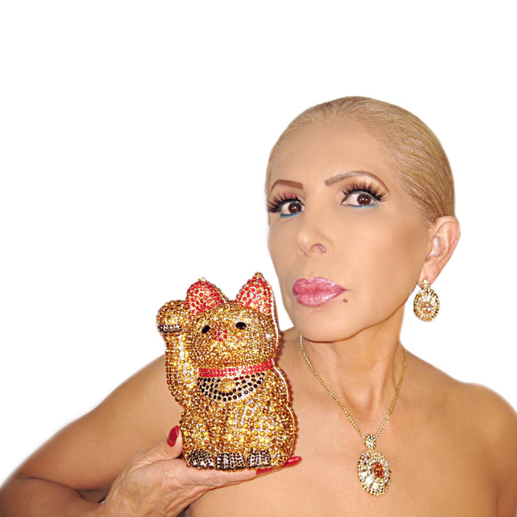 Bonita Jewels Gold Cat Clutch