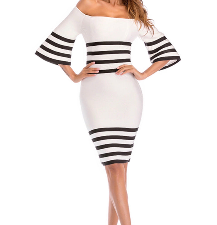 Bonita Bandage Off The Shoulder Dress