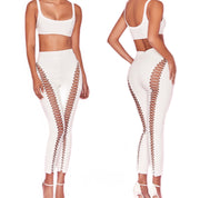 Bonita Bandage Lace Up Pencil Pants