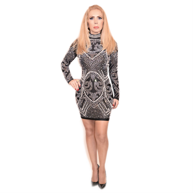 Bonita Cocktail Long Sleeve Dress