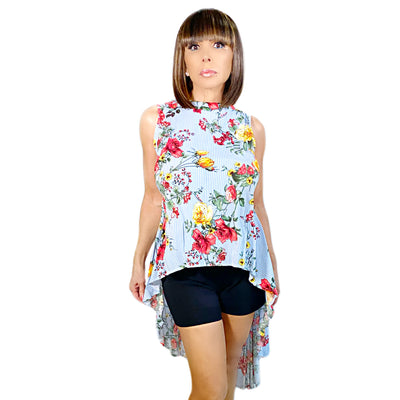 Bonita's Closet High-Lo Floral Blouse