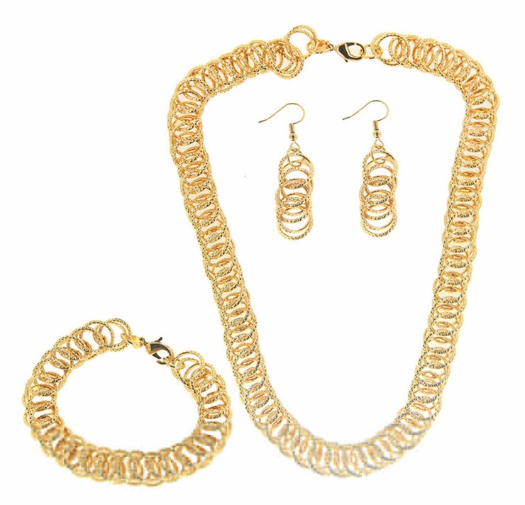 Bonita Jewels Gold Plated 3 PCS Set