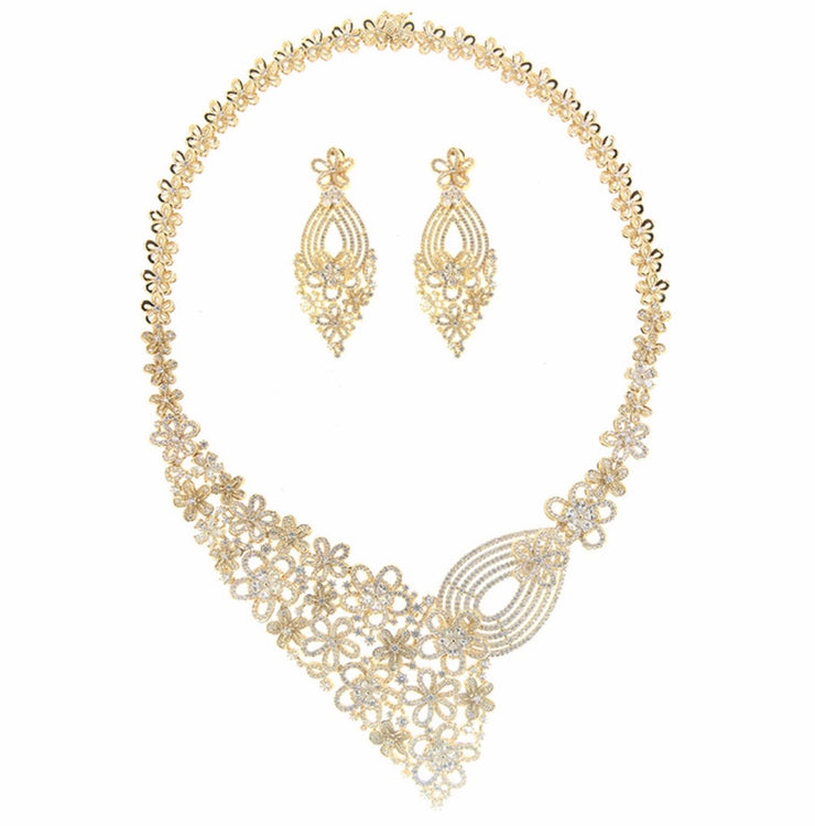 Bonita Jewels Gold Plated CZ 2-PCS Set