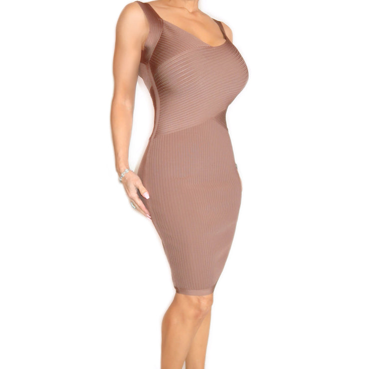 Bonita Bandage Soft Brown Dress