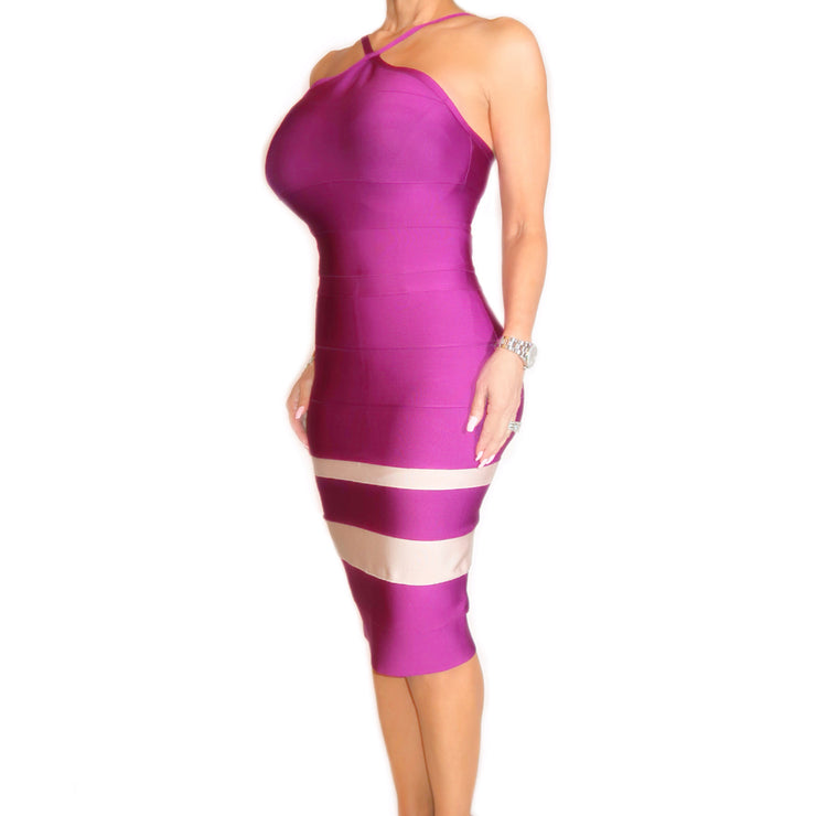 Bonita Bandage Spaghetti Halter Top Dress