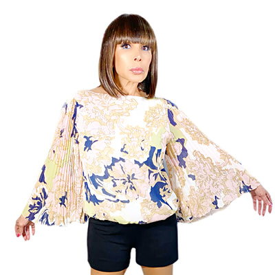 Bonita's Closet Long Sleeve Floral Blouse