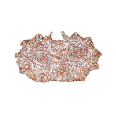 Bonita Jewels Crystal Rose Gold Clutch