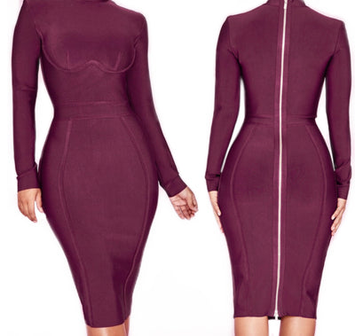 Bonita Bandage Long Sleeve Dress