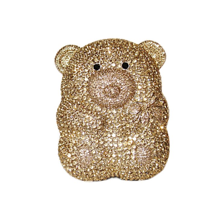 Bonita Jewels Crystal Gold Bear