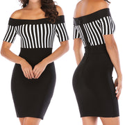 Bonita Bandage Off The Shoulder Muni Dress