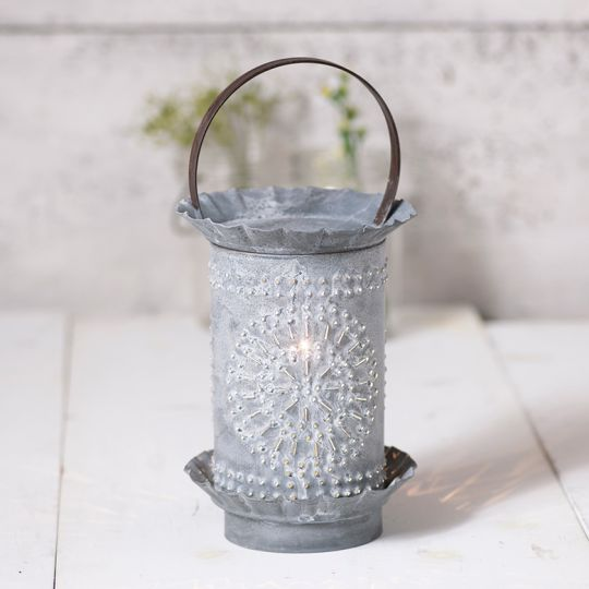 Classic Wax Warmer With Chisel In Weathered Zinc Olde Red Door Candles And Primitives Llc