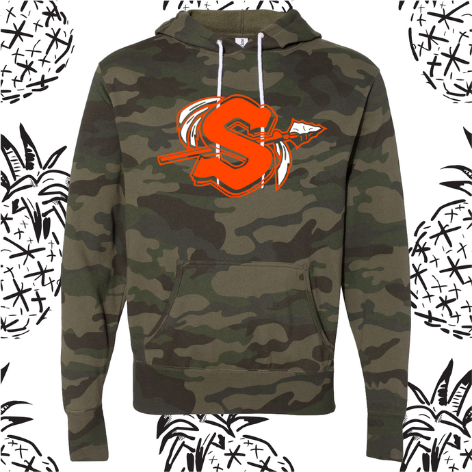 Sandwich Logo Camo Hooded Sweatshirt