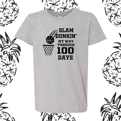 100 Days Basketball Tee