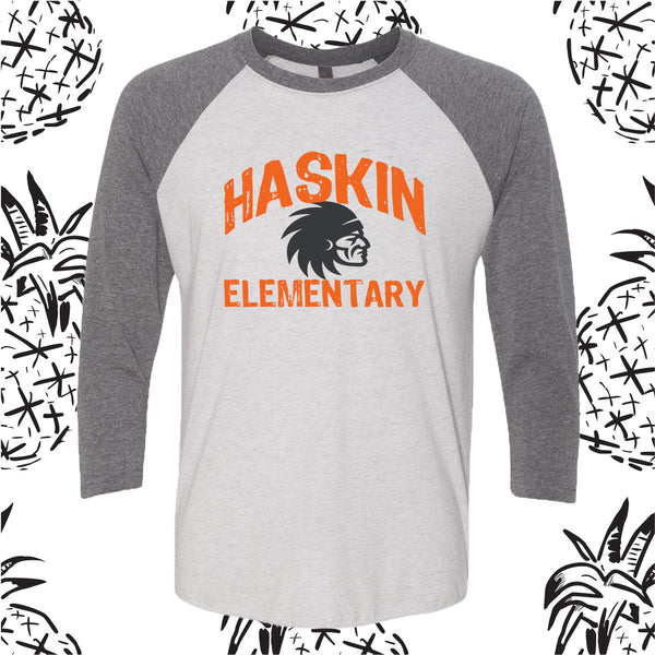 Haskin Indian Head Baseball Tee