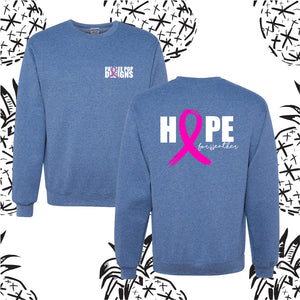 Paislee Pop Hope for Heather Tee and Sweatshirt
