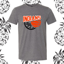 Load image into Gallery viewer, Indians Basketball Swoosh Tee or Hooded Sweatshirt