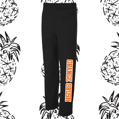 Orange Crush Open Bottom Sweatpants