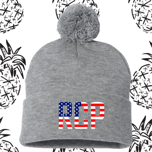 Rock Creek Patriot Pom Beanie