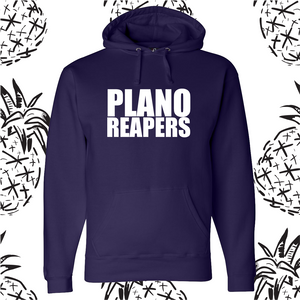 Plano Reapers White Text Hooded Sweatshirt