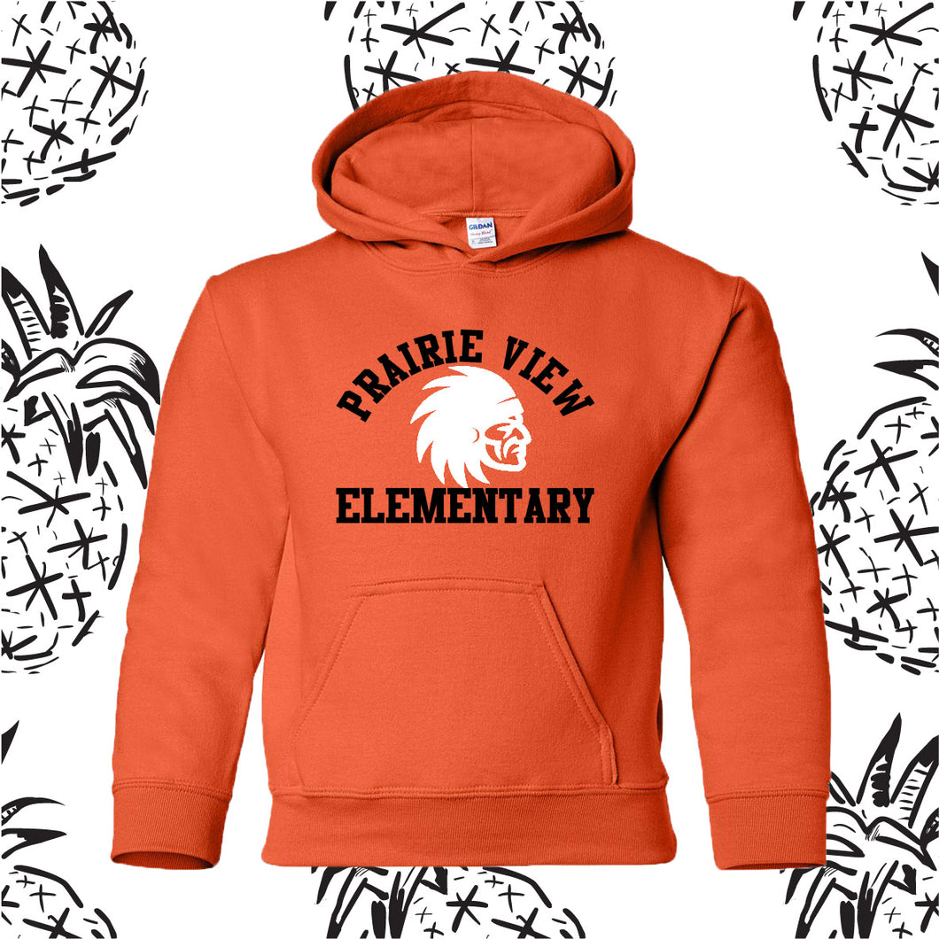 Prairie View Elementary Indian Head Hooded Sweatshirt