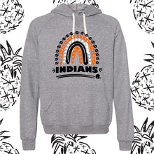 Load image into Gallery viewer, Indians Rainbow Unisex Hooded Sweatshirt