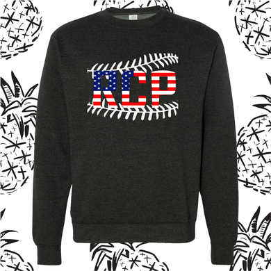 RCP Baseball Stitch Unisex Crew Neck Sweatshirt