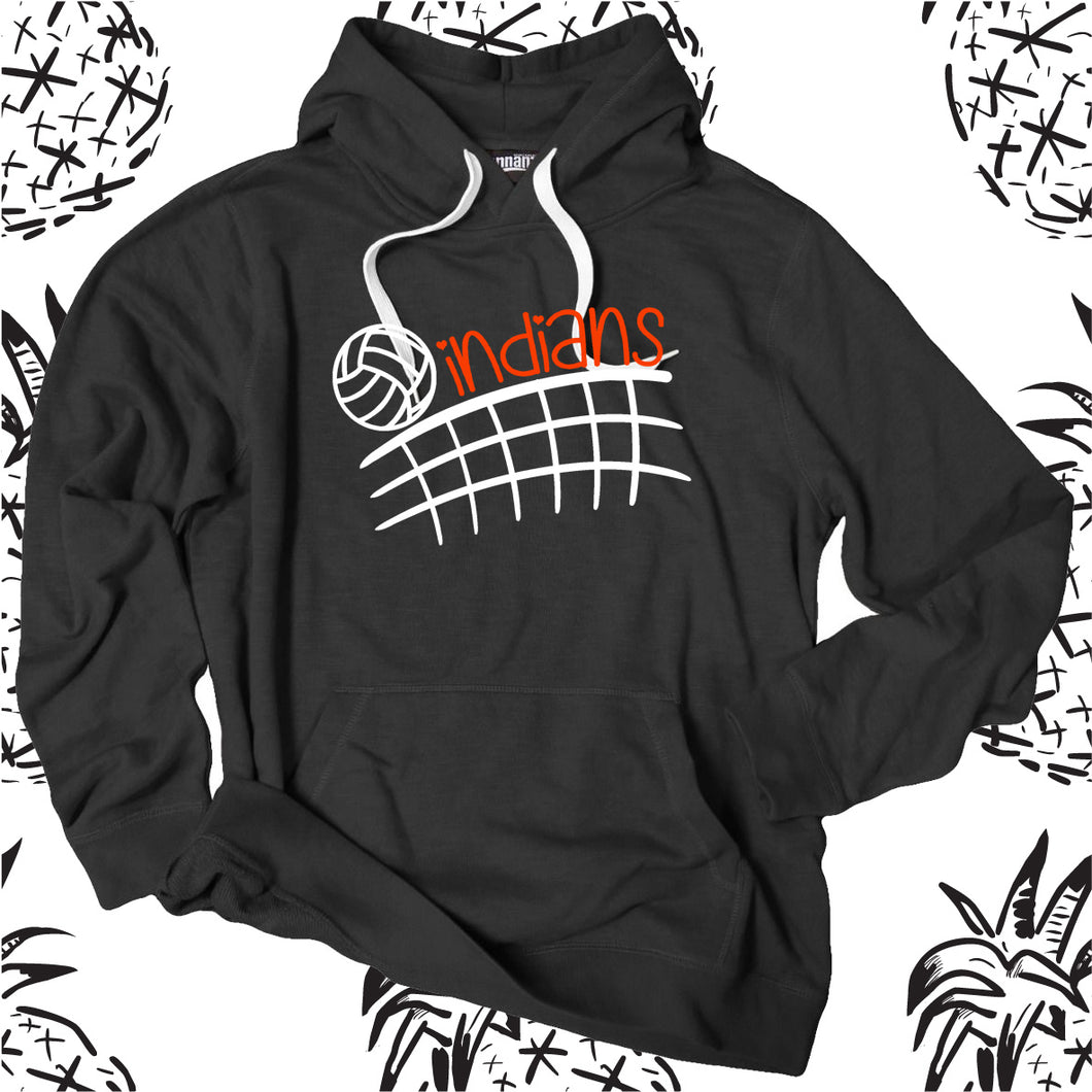Indians Unisex Volleyball Net Hooded Sweatshirt
