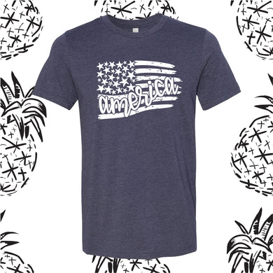 American Flag 4th of July Tee