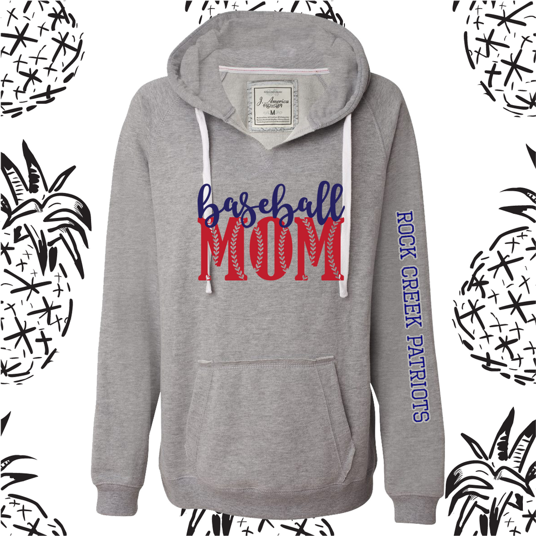 Baseball Mom Women's Hooded Sweatshirt