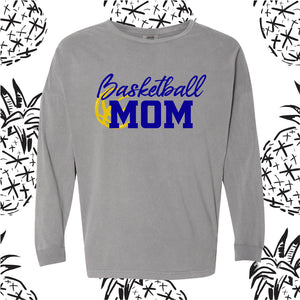 Basketball Mom Comfort Colors Long Sleeve Tee