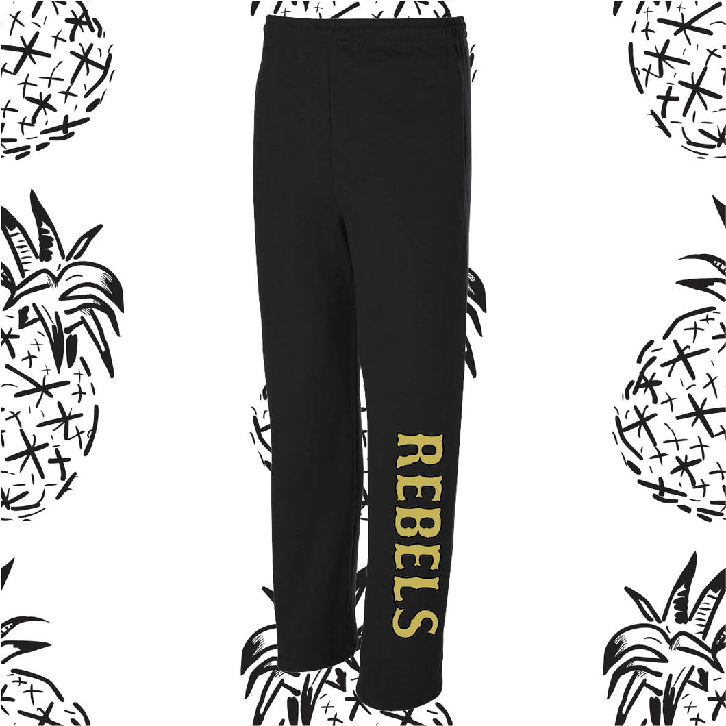 KC Rebel Open Bottom Sweatpants