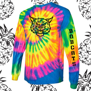 Somonauk Bobcat Mascot Tie Dye Long Sleeve Tee