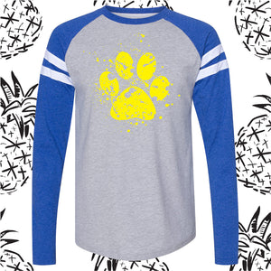 Somonauk Splatter Paw Long Sleeve Tee